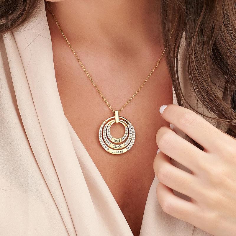 Mamma Halsband med Cirkel i Guldplätering - 2