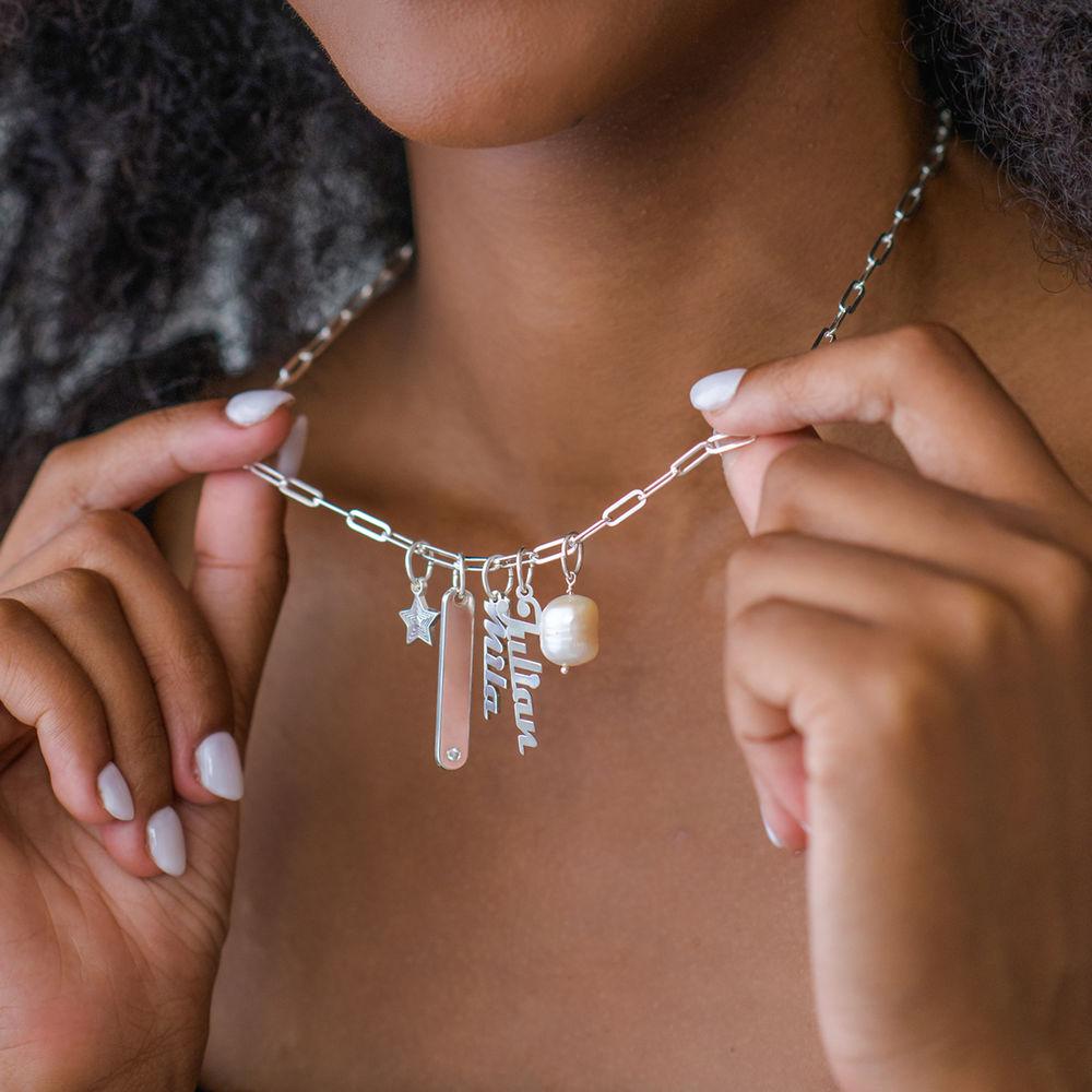 Siena Namnbricka Halsband i Sterling Silver - 4