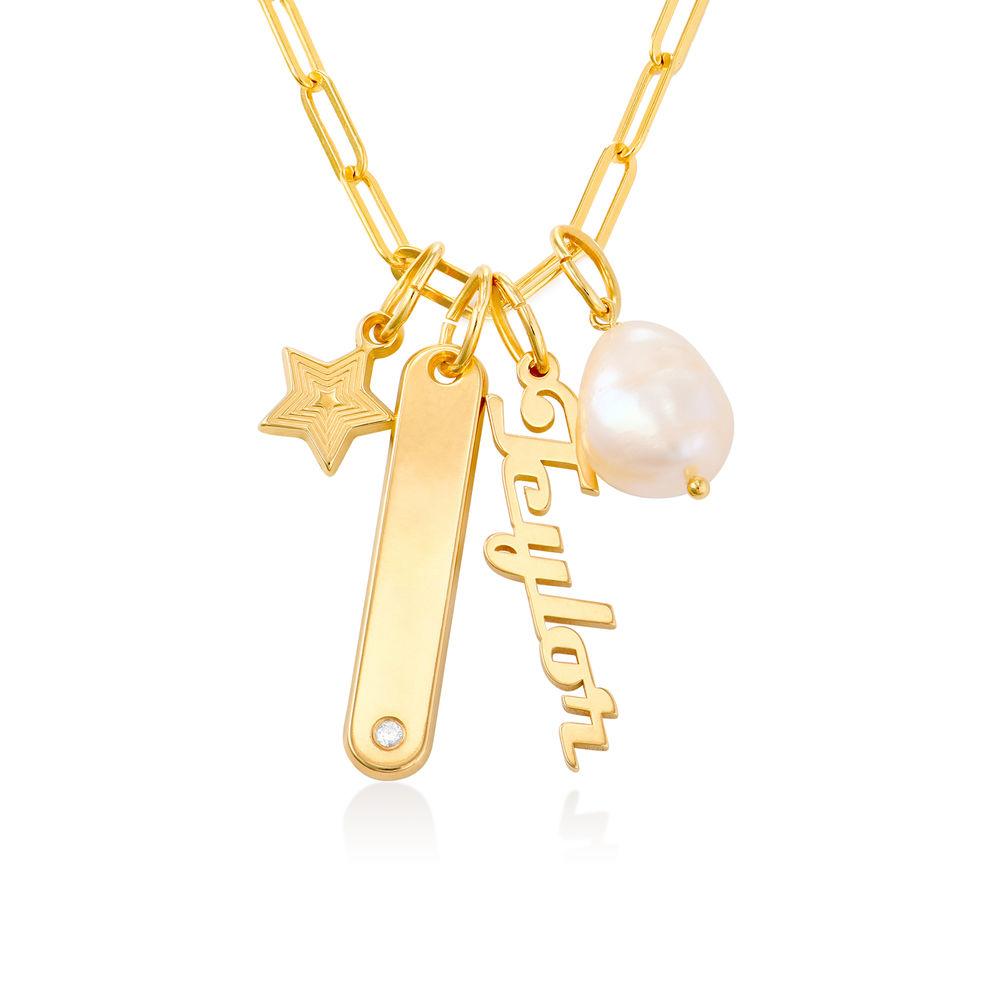Siena Namnbricka Halsband i 18k Guldplätering - 1