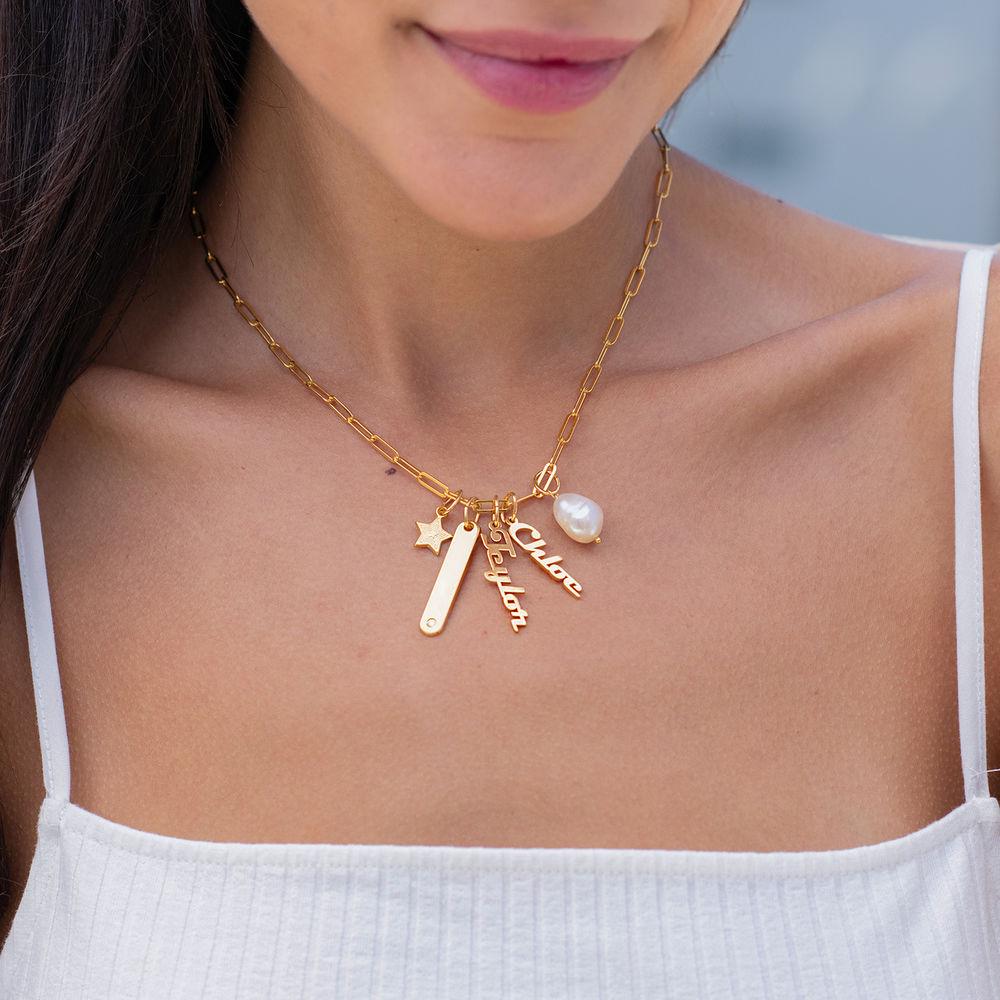 Siena Namnbricka Halsband i 18k Guldplätering - 2