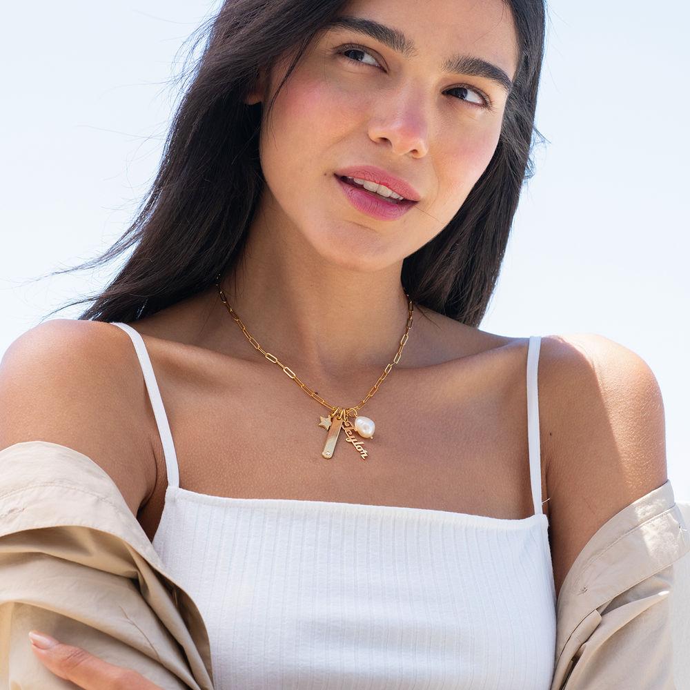 Siena Namnbricka Halsband i 18k Guldplätering - 3