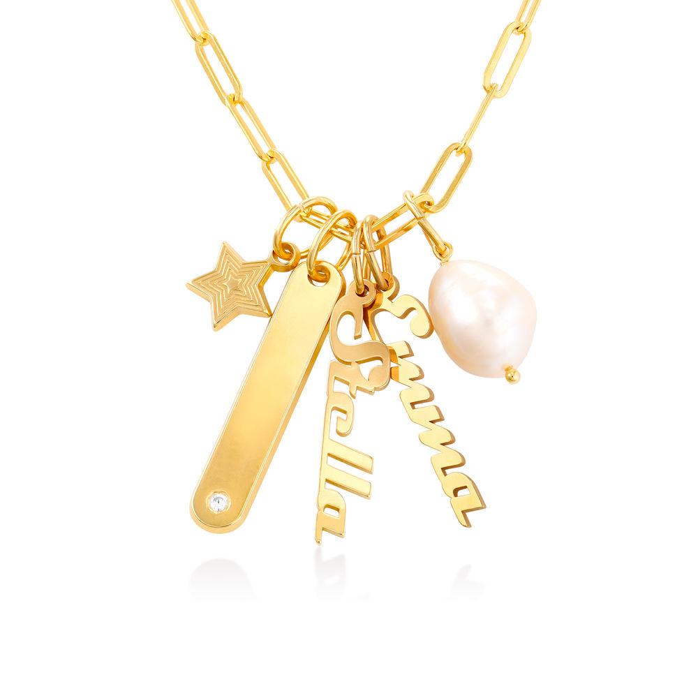 Siena Namnbricka Halsband i Guld Vermeil