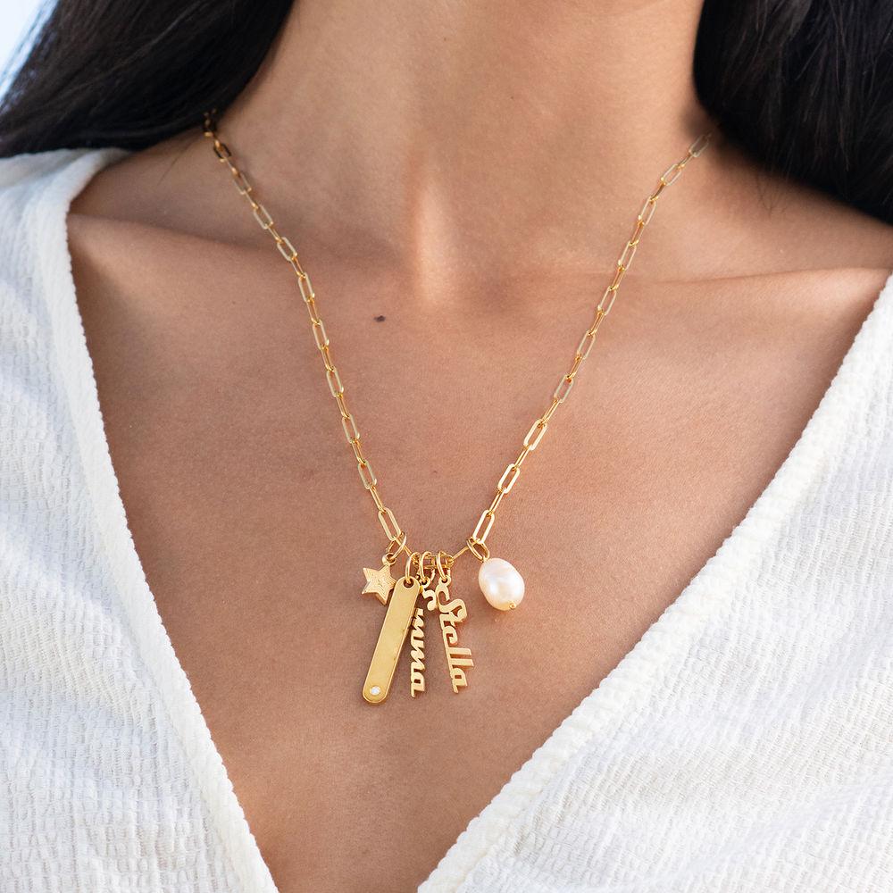 Siena Namnbricka Halsband i Guld Vermeil - 2