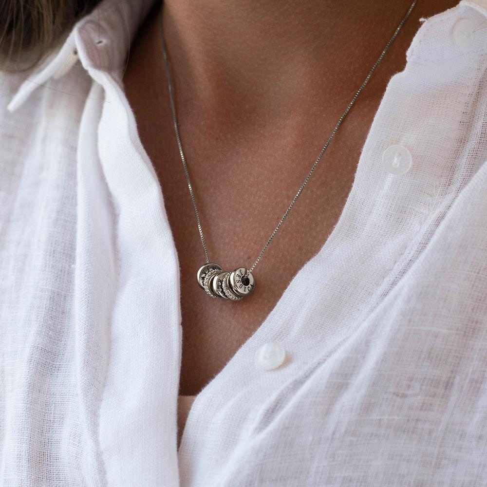 Personligt Halsband med Graverade Runda Plattor i Sterling Silver - 4