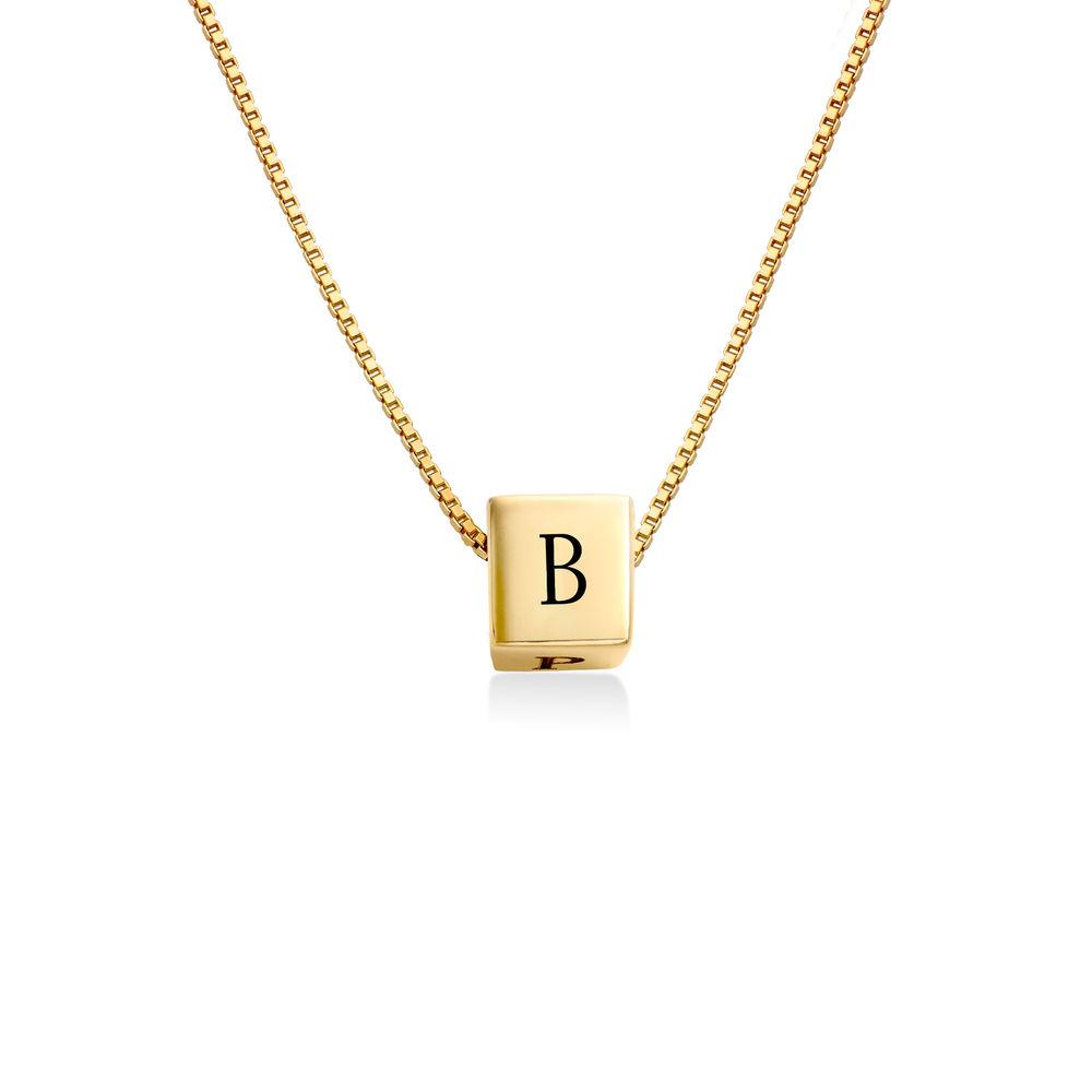 Blair kubhalsband med initialer i Guldplätering