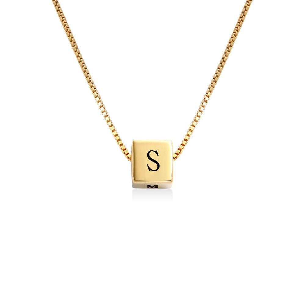 Blair kubhalsband med initialer i guld vermeil