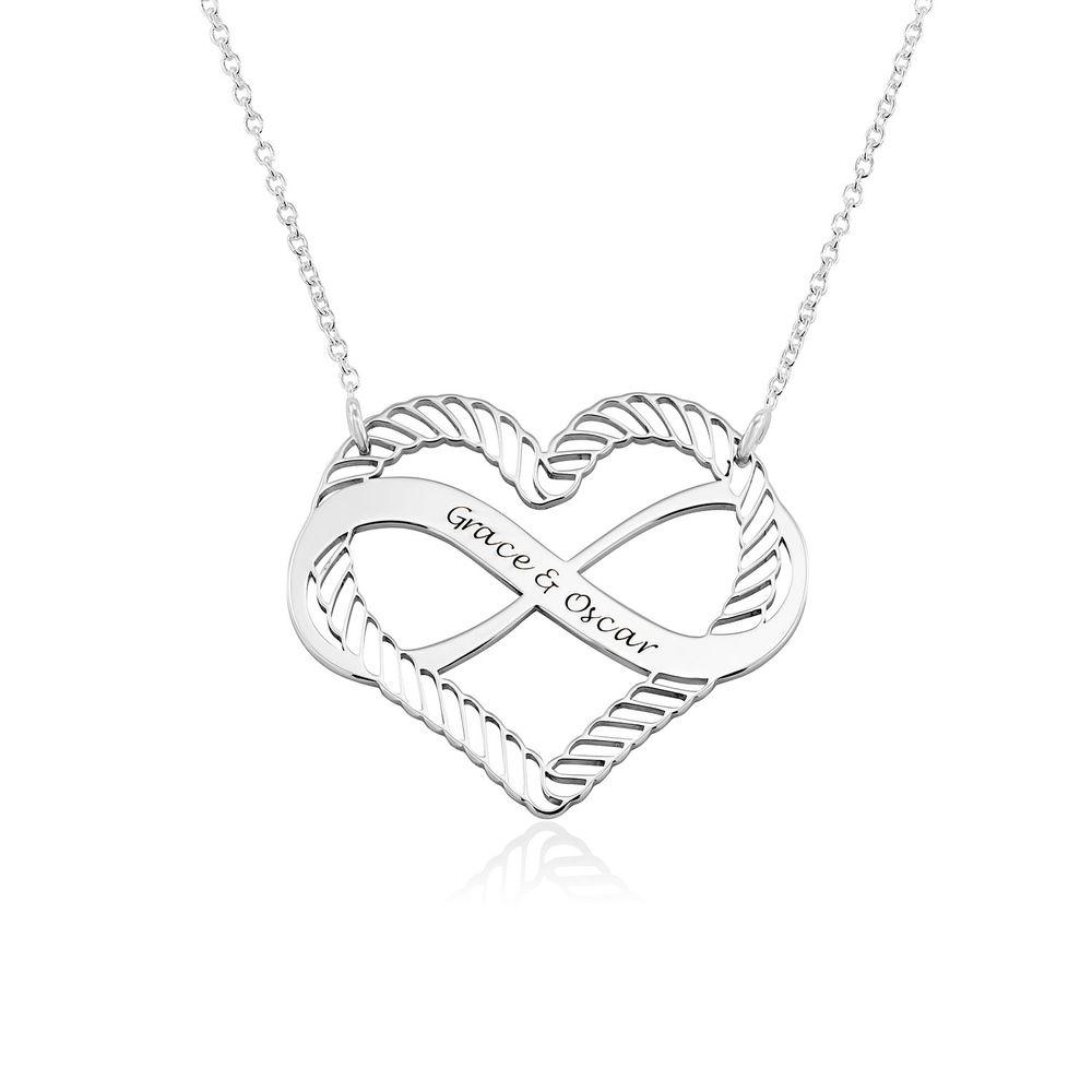 Halsband med Hjärta och Infinity-Symbol i Sterling Silver