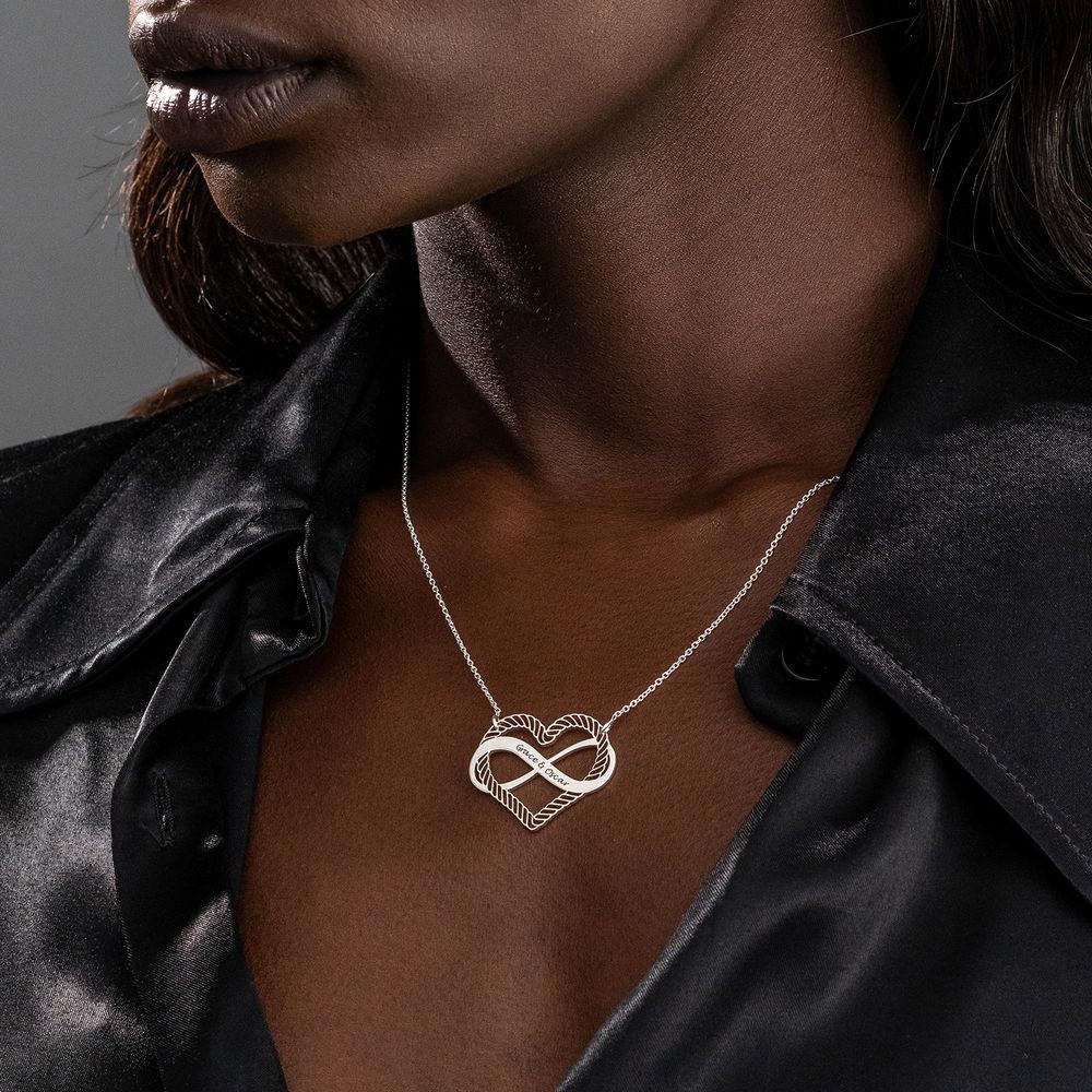 Halsband med Hjärta och Infinity-Symbol i Sterling Silver - 2