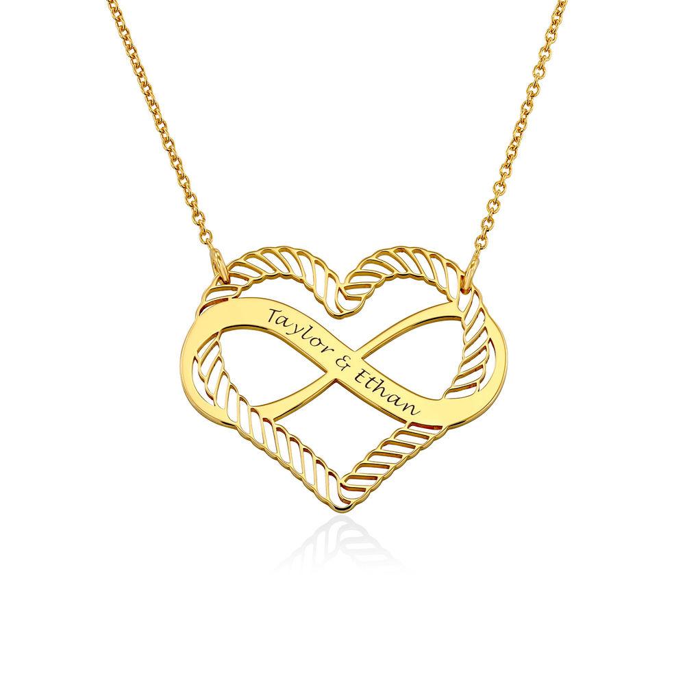 Halsband med Hjärta och Infinity-Symbol i 18k Guldplätering