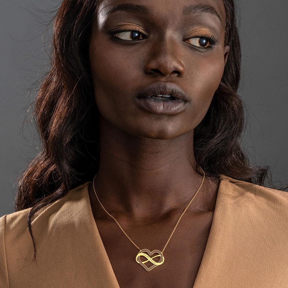 Halsband med Hjärta och Infinity-Symbol i 18k Guldplätering - 1