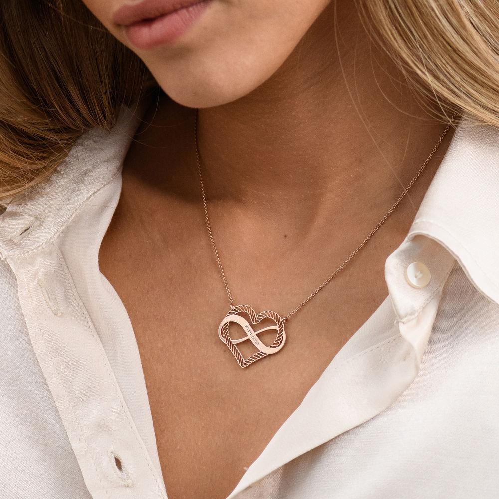 Halsband med Hjärta och Infinity-Symbol i 18k Roseguldplätering - 2