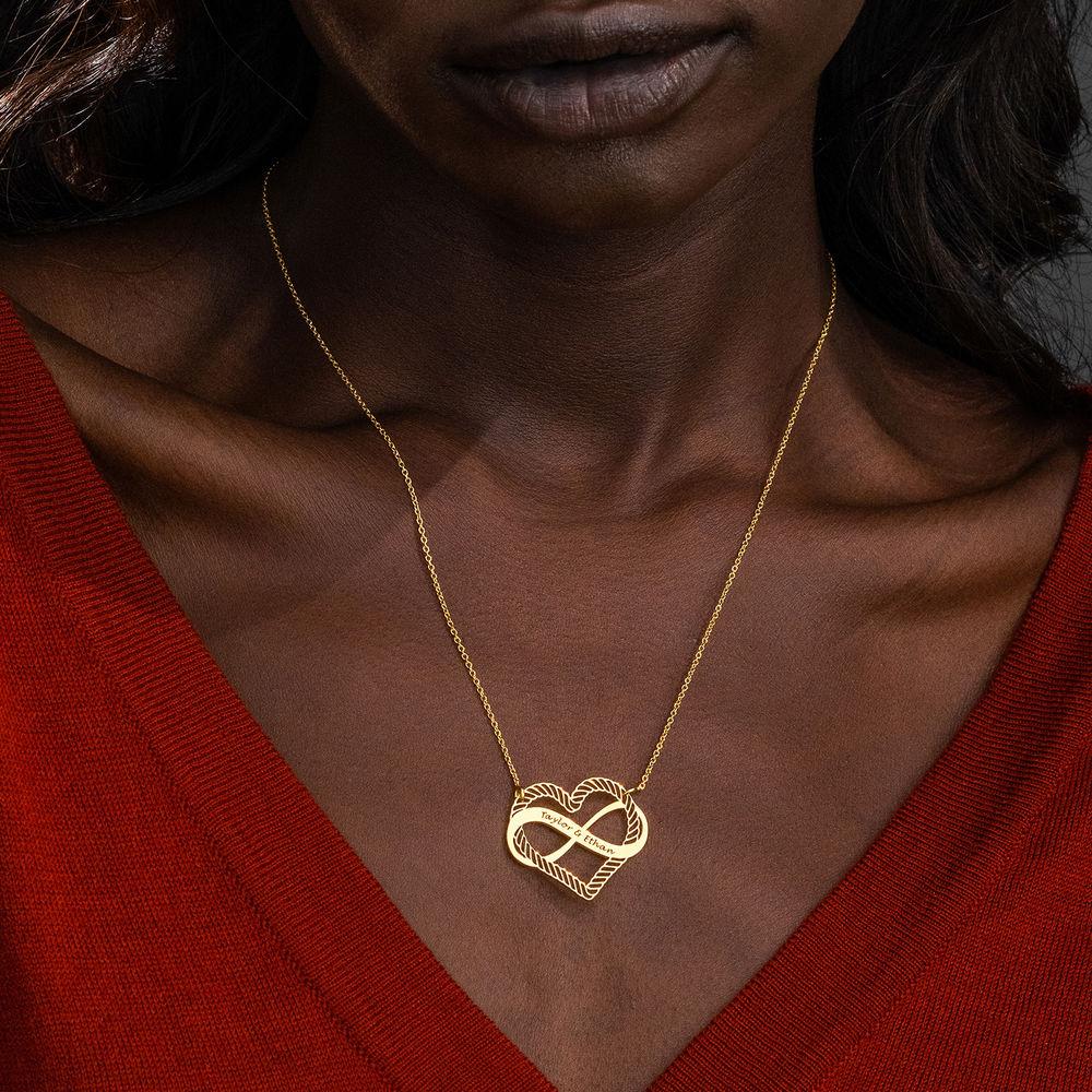 Hjärta och Infinity-Symbol i Guld Vermeil - 2