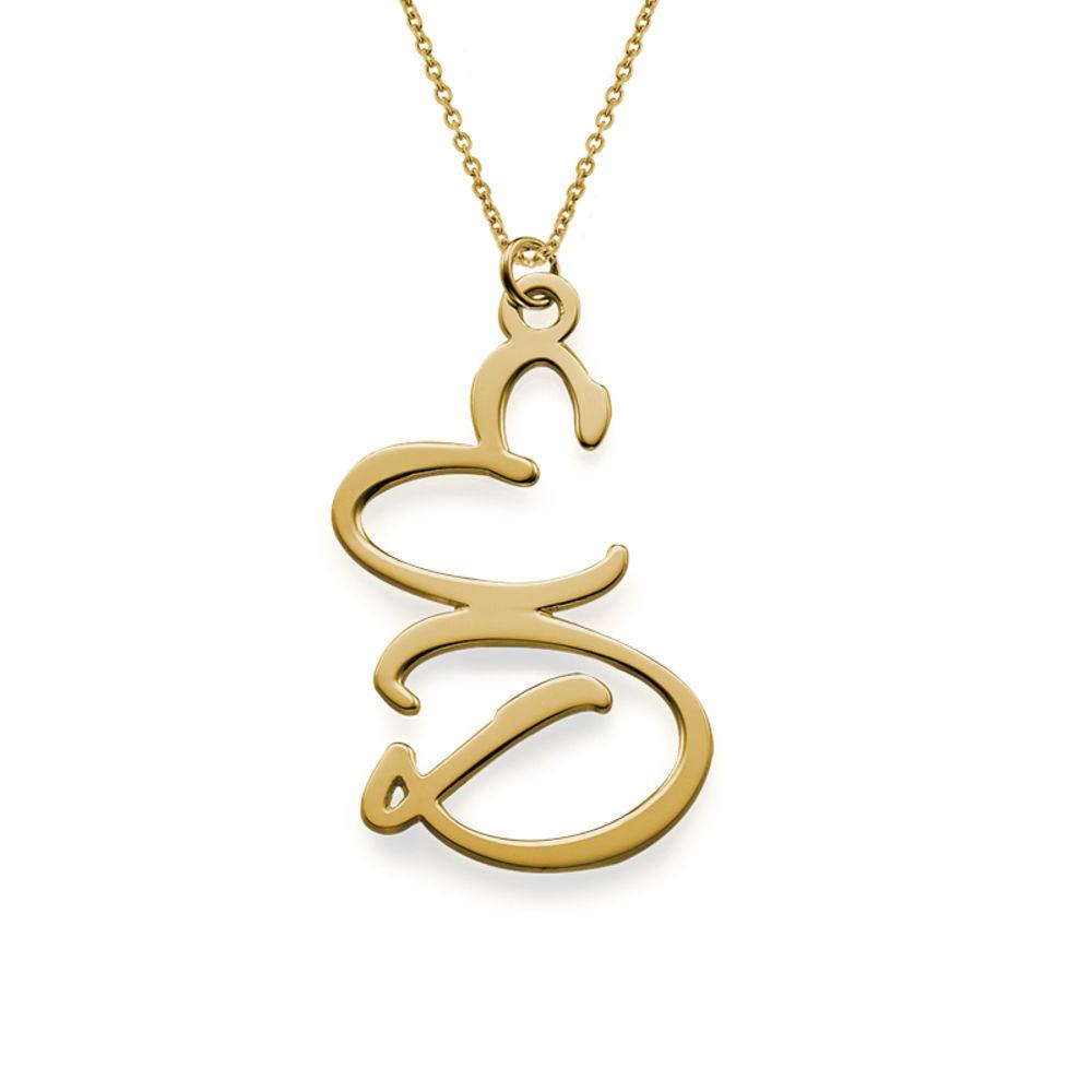 Halsband med två bokstäver i 18K guldplätering - 1