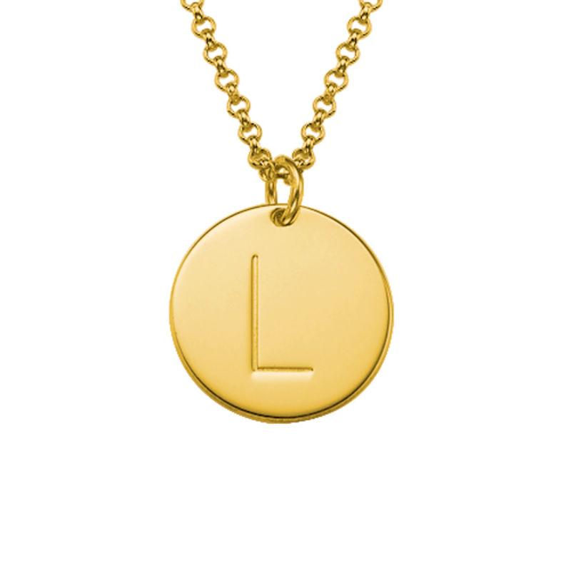 Berlockhalsband i guld vermeil med initialer - 1