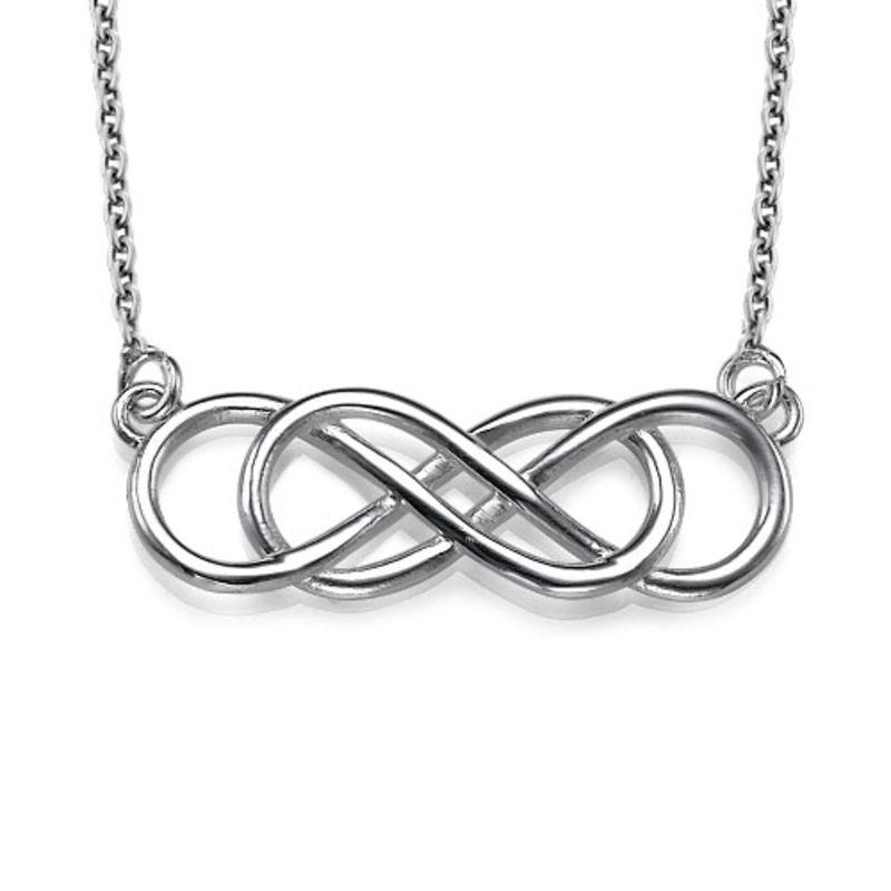 Dubbelt Infinity Halsband i Sterling Silver