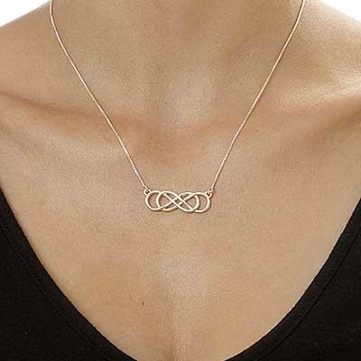 Dubbelt Infinity Halsband i Sterling Silver - 1