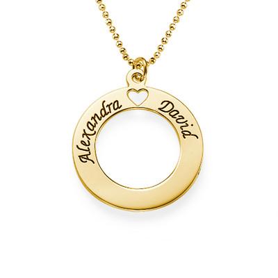 "Guldpläterat ""Circle of Love"" Halsband"
