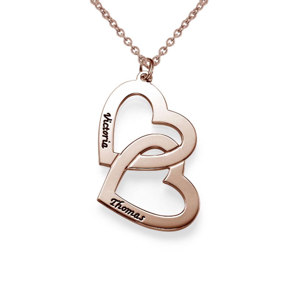 Halsband med Hjärta i Roséguldplätering