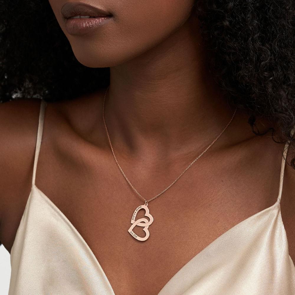Halsband med Hjärta i Roséguldplätering - 2