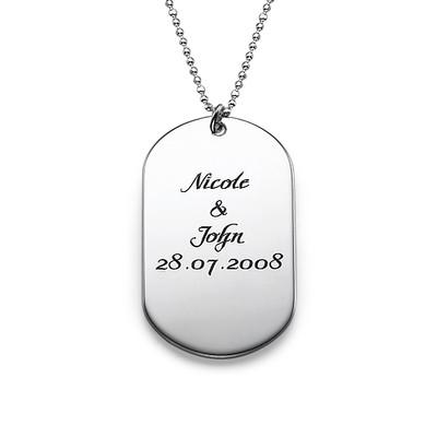 Personlig ID-bricka Halsband i Silver