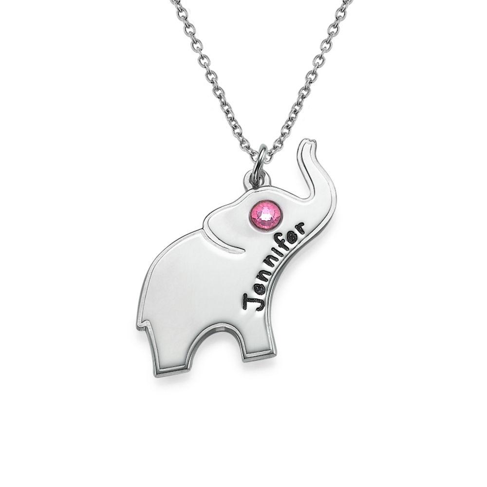 Lycko Elefant Halsband med Gravyr