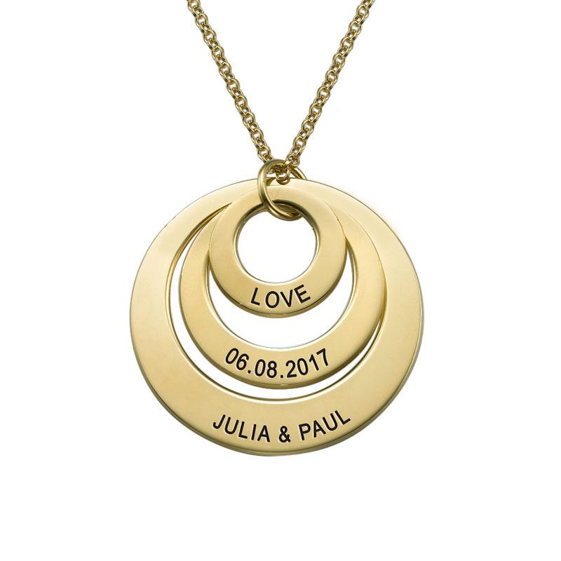 18K guldpläterat halsband med tre brickor - 2
