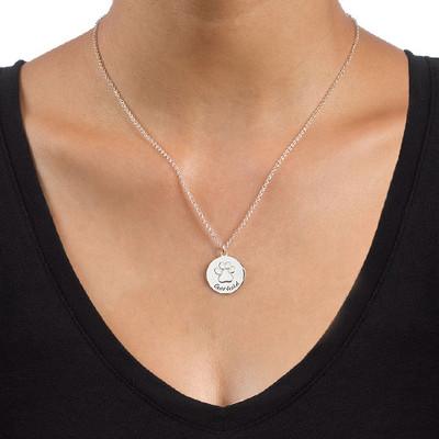 Tassavtryck halsband i Silver - 1