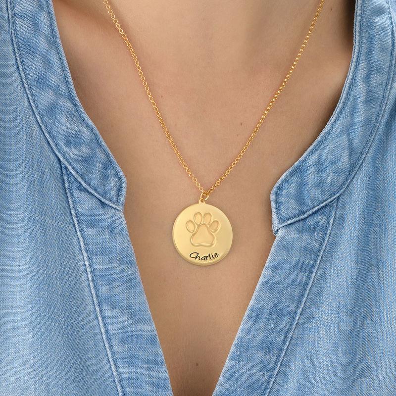 Tassavtryck halsband i 18K Guldplätering - 2
