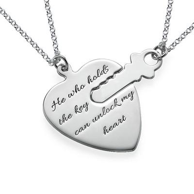 Nyckel till mitt hjärta - Graverat halsband
