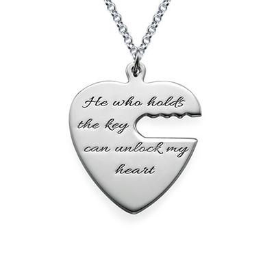 Nyckel till mitt hjärta - Graverat halsband - 1