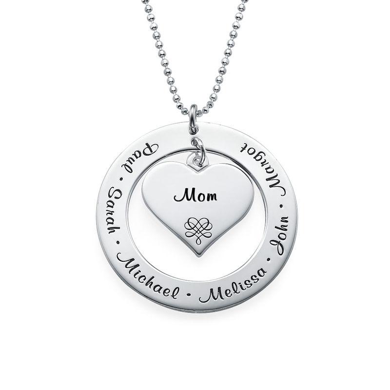 Farmor/ Mormor/ Mamma halsband i 10K Vitt Guld - 2