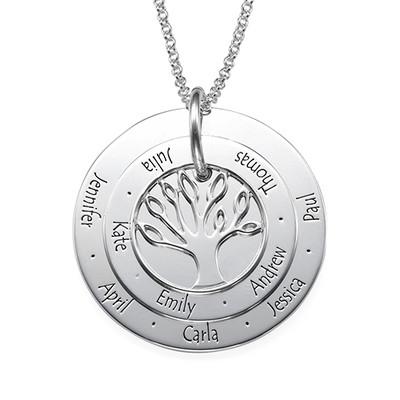 Personligt Mors smycke -  Familjeträd halsband
