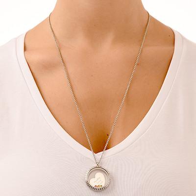 En Mors Kärlek Flytande Berlock Halsband - 5