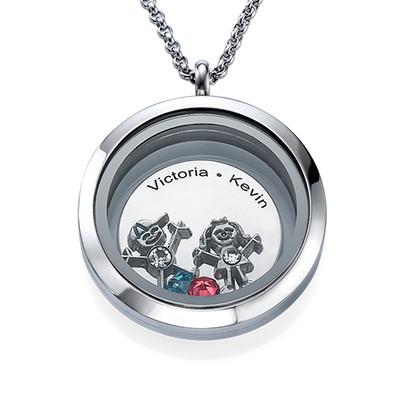 Flytande Berlock Halsbandet för Mammor med Barn Berlocker