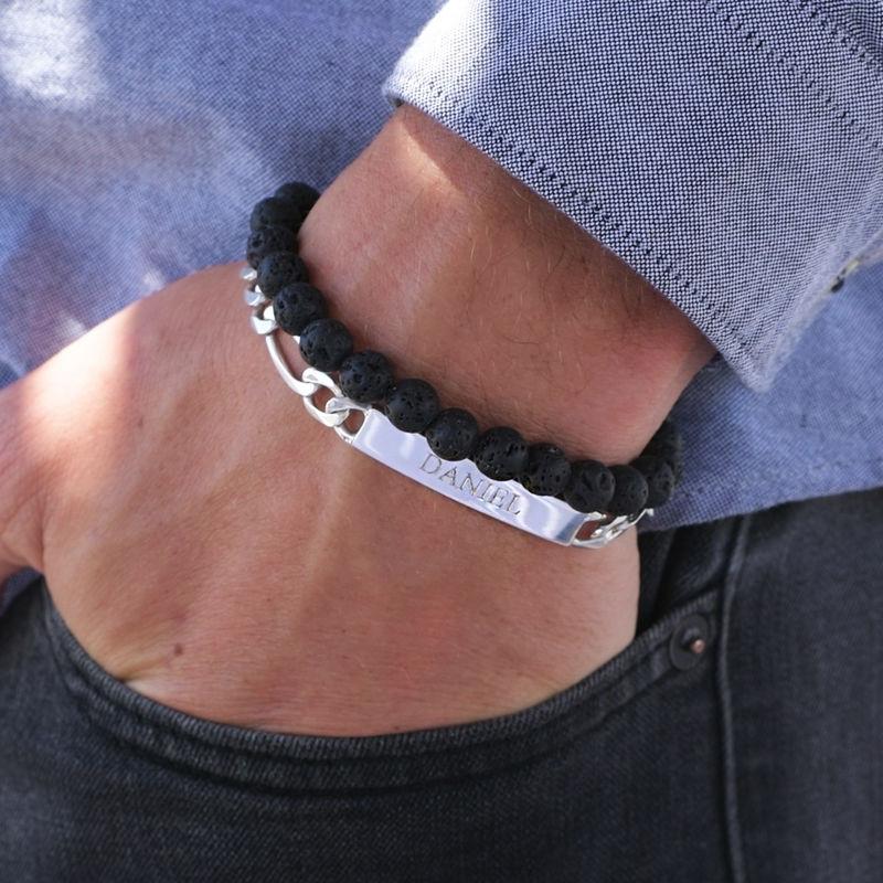 ID armband för män i silver - 2