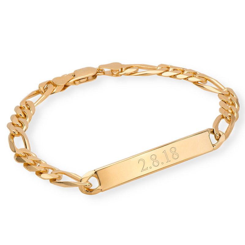 ID armband för män med guldplätering - 1