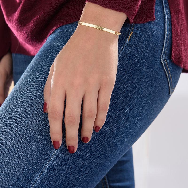 ID-armband dam i guldplätering - 3