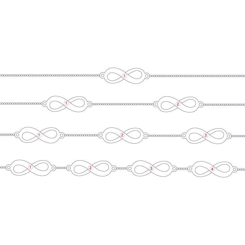 Infinity Armband i silver - 6
