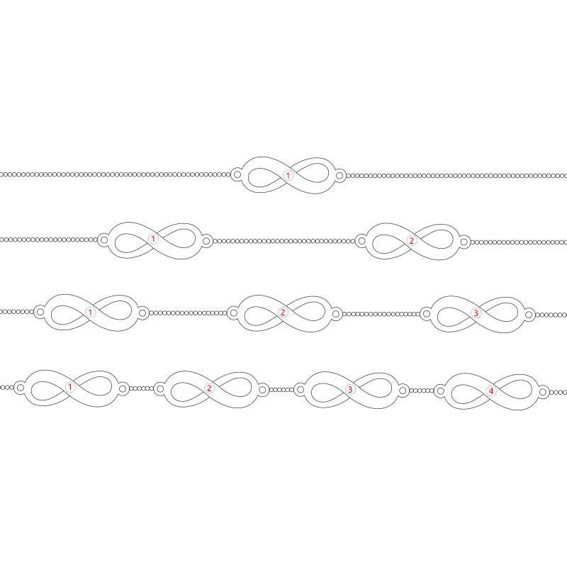 Infinity Armband i Guld Vermeil - 6