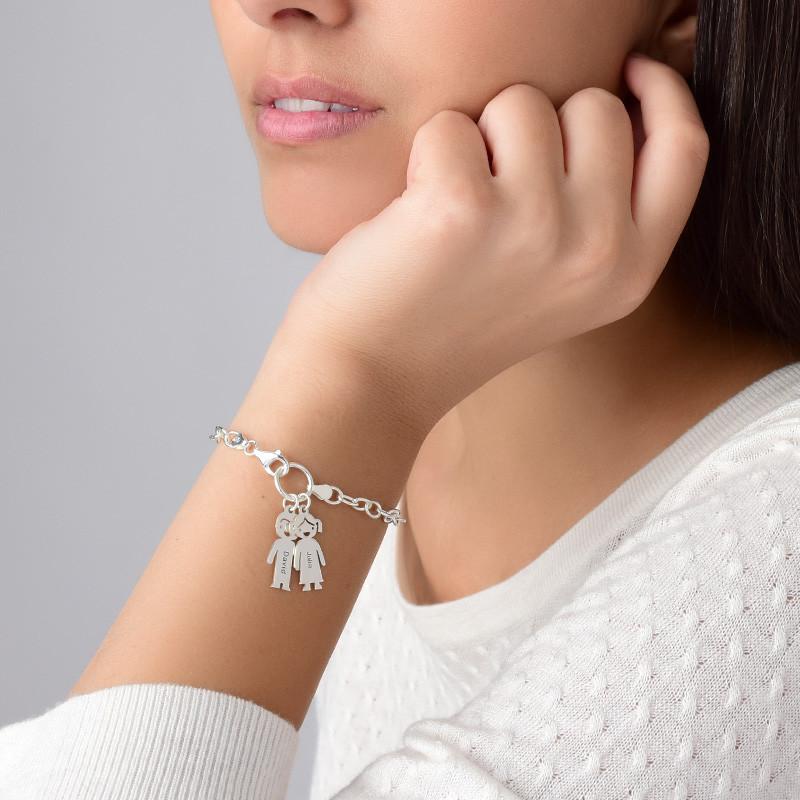 Berlock Armband med Barn hängen - 2