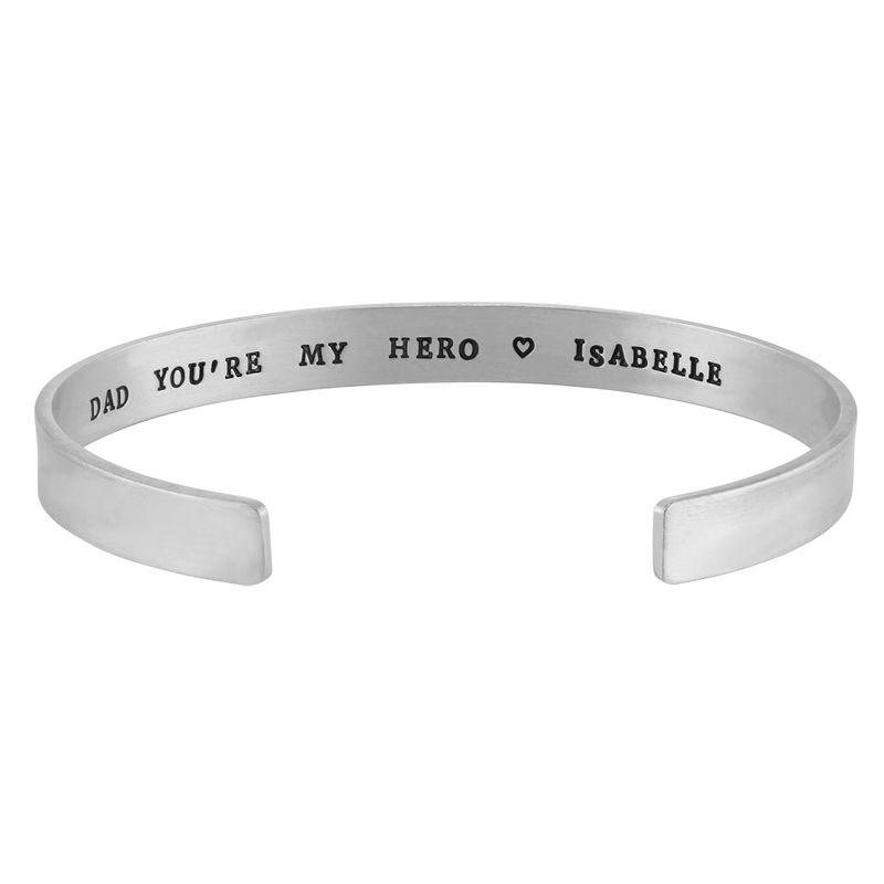 Personligt silver armband för män - 1