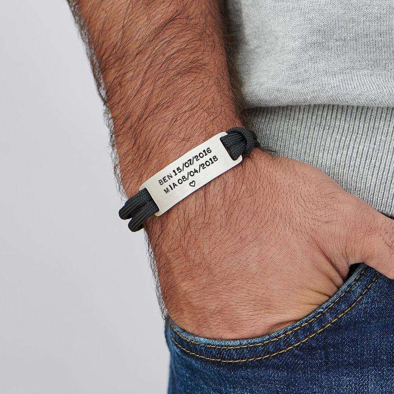 Graverad Paracord Armband för Män - 5