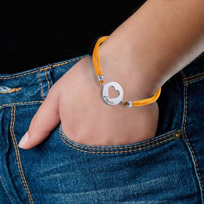 Personligt Hjärt Armband i Silver - 1