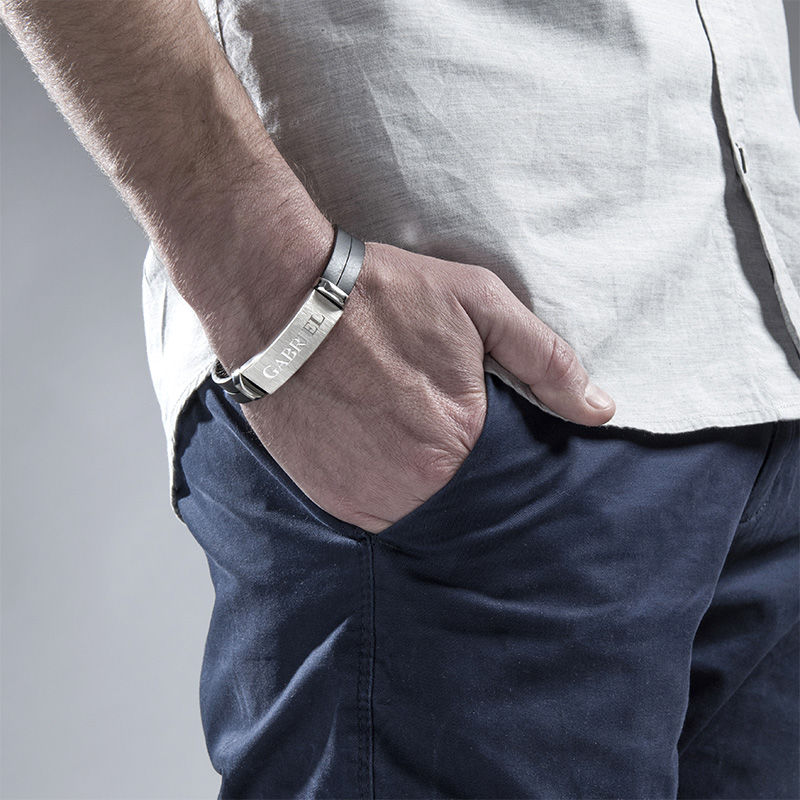Personligt läderarmband för män - 3