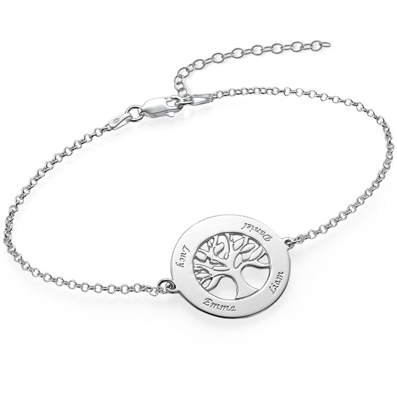 Livets träd-armband i silver med gravyr