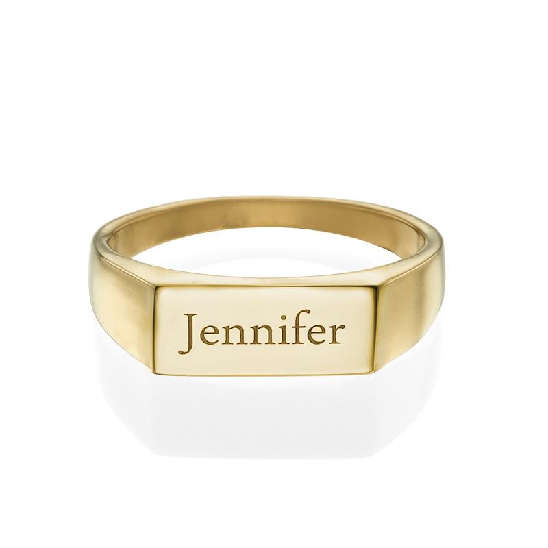 Signet Ring med guldplätering - 1