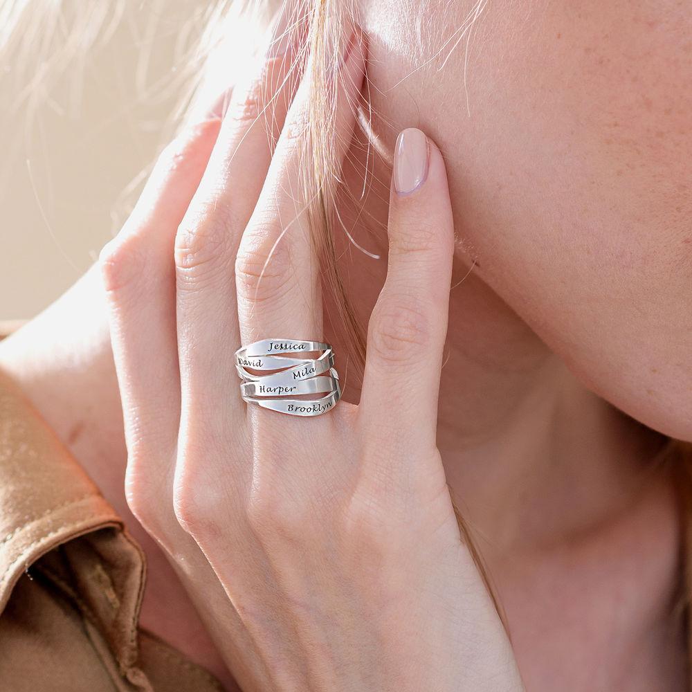 Margeaux Personlig Ring med Gravyr i Sterling Silver - 4