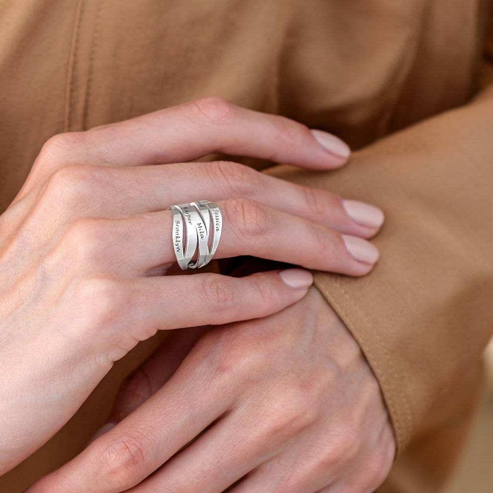 Margeaux Personlig Ring med Gravyr i Sterling Silver - 5