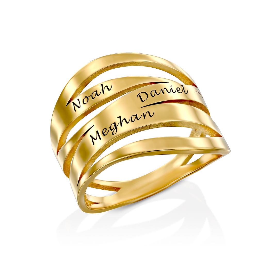 Margeaux Personlig Ring med Gravyr i Guld Vermeil