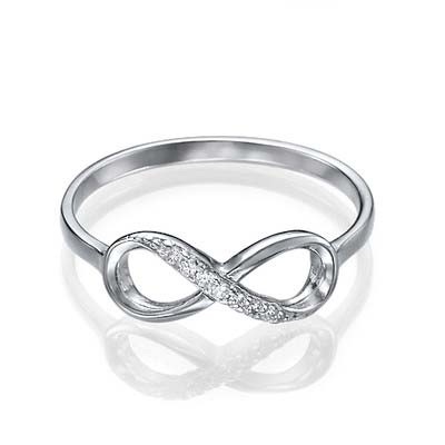 Silver Infinity Ring med Cubic Zirconia - 1